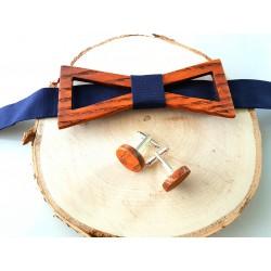 Rinkinukas: medinė varlytė ir sąsagos